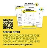 Gibbon Slacklines Slackrack Classic, schwarz / gelb, Aufbaulänge: 2 oder 3 Meter, Höhe: 30 cm, Breite: 2″/50mm, perfekter Freizeitsport, Trainingsgerät, Hometrainer - 5