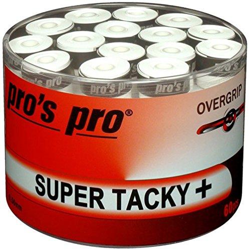 Pro Pros Super Tacky Cintas de Agarre de Tenis para Raqueta 60 Unidades Blanco