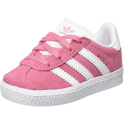 adidas Unisex Baby Gazelle I Sneaker, Mehrfarbig Rosa (Rossen Ftwbla Ftwbla), 27 EU