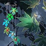 Fall Decor Maple Leaf Wind Chimes Outdoor Fall Garden Decor Solar Outdoor Night Light Autumn Decoration Gift for Women Wife Parents Gift Birthday Gift