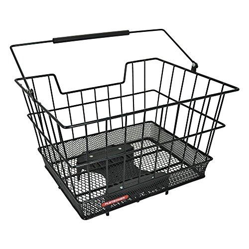 Pletscher Unisex– Erwachsene Flash Fahrradkorb, schwarz, 1size
