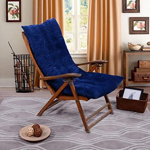 JYSD Cojín Chaise Lounge, Patio, Interior/Exterior Chaise Lounge, Cojines Silla de oscilación del Amortiguador del sofá Tatami Ventana del Asiento Mat Colchón D5/18 (Color : Blue)