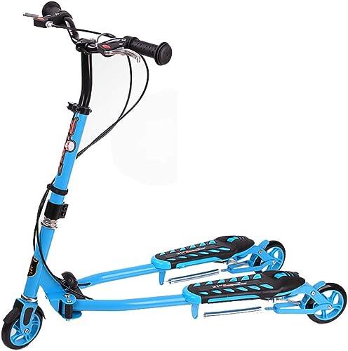 HYRL Kinder-Roller Frosch-Dreirad-Roller, 3-Rad-Roller Faltbarer Kinder-Roller H nverstellbar für Jungen und mädchen ab 6,Blau