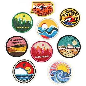 9 piezas Patch Sticker, parches bordados, Parches ropa Termoadhesivos, Parches ropa, Parches bordados cosidos, insignia de parche bordado para la camiseta Jeans Ropa Bolsas: Amazon.es: Hogar