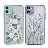 花 フラワー ミントグリーン ブルーグレー iPhoneケース カバー 携帯ケース 携帯カバー スマホ……