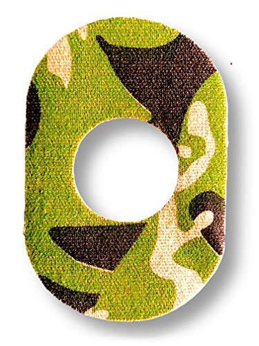 FixTape atmungsaktives Sensor-Tape für Freestyle Libre 1 & 2 I selbstklebendes Patch mit Loch für Glukose-Sensor I besonders hautfreundlich und wasserfest in modernen Designs I 7 Stück (Dschungel)