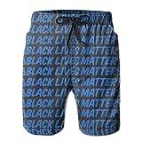 VFBGF Shorts pour Hommes Pantalons à Cinq Points Pantalons de Plage Pantalons décontractés Black Lives Matter 1 Summer Must-Have Beach Men's Beach Shorts
