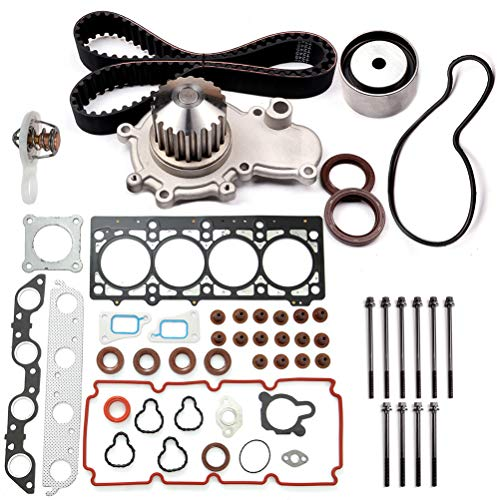 ECCPP Timing Belt Water Pump Thermostat Kit Fit for 2000-2005 for Dodge Neon 1999-2000 for Dodge Stratus 1999-2000 for Plymouth Breeze 2000-2001 for Plymouth Neon