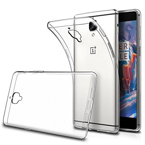 Simpeak Cover Compatibile per OnePlus 3   OnePlus 3T 5.5  (Confezione da 2), Custodia Chiaro Cristallo Liquid Crystal Estremamente Sottile & Puro Trasparente