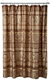 Madison Park Bellagio Taupe, Transitional Shower Curtains for Bathroom, 72 X 72, Beige, Brown