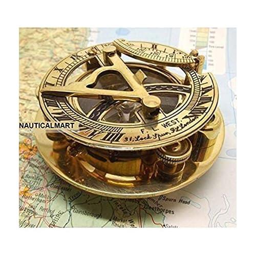 Maritime Compasses Frank Antique Nautical Brass Pocket Poem Compass 3 Inches Antiques