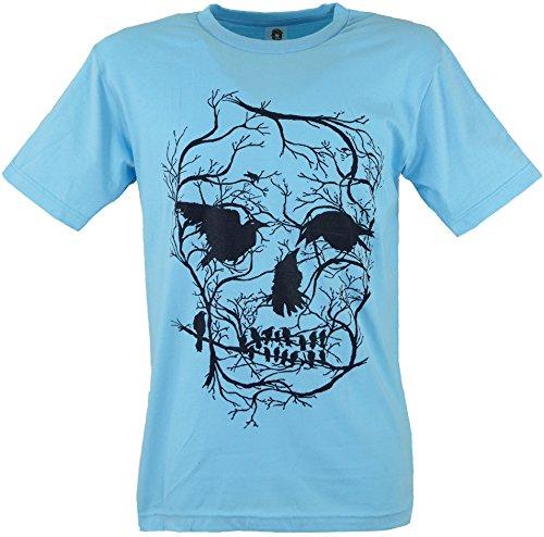 Guru-Shop Fun T-Shirt, Herren, Krähen, Baumwolle, Size:M, Rundhals Kurzarm Shirt Alternative Bekleidung