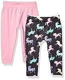 Limited Too Baby Girl's 2 Pack Foil Printed Fleece Lined Legging Pants, Unicorns Multi, 12-24M