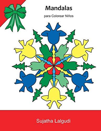 Mandalas para Colorear Niños: Navidades mágicas. Libro para colorear para niños