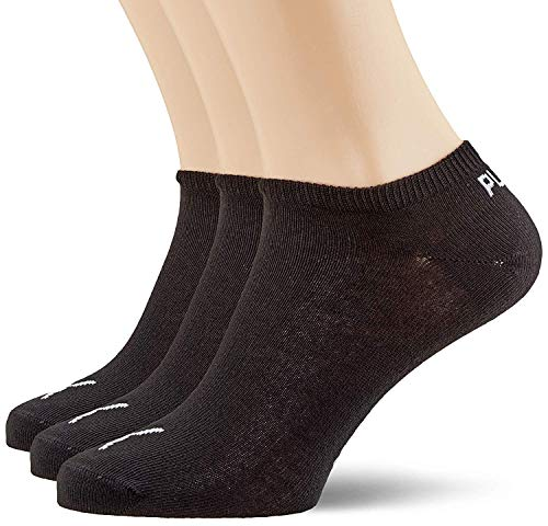 Puma Sportive Sneaker Sock Pack of 3, Black, 9 - 11 UK (43/46 EU)