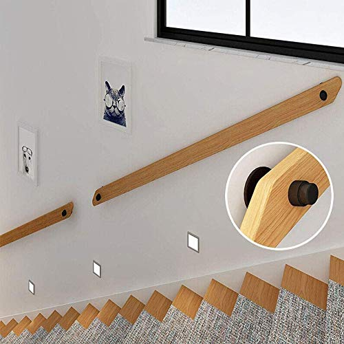 SSS Holzhandläufe (30cm-300cm) Komplett-Set, Korridor Griffige Treppengeländer Stützstange, Wandhalterung Ältere und Haltegriff Kit der Kinder for Krankenhaus/Heim Treppen Treppengeländer Geländer