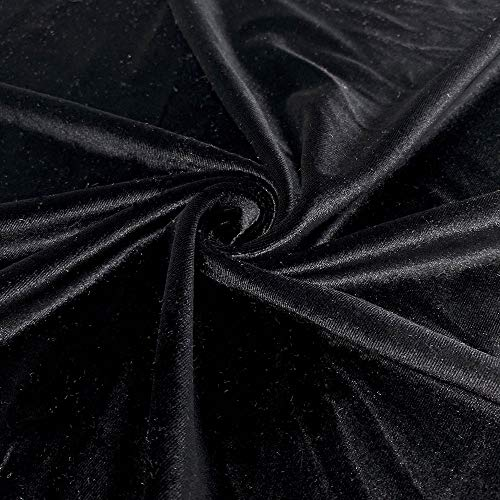 Stretch Velvet Fabric 60'' Wide by The Yard for Sewing...