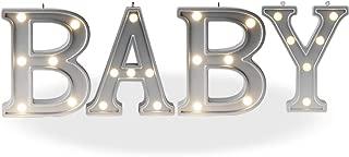 DELICORE Decorative Illuminated Marquee Baby Word Sign (Silver Color 4.21