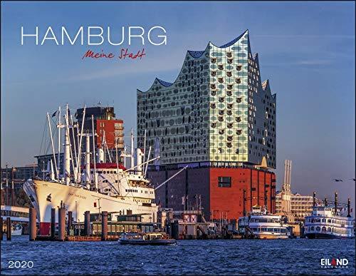 Hamburg: Die Hansestadt. Wandkalender 2020. Monatskalendarium. Spiralbindung. Format 44 x 34 cm