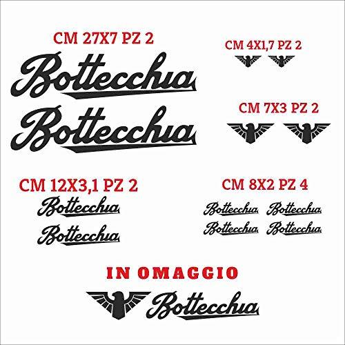 Set Adesivi Bottecchia Tagliati Singolarmente Stickers Compatibili Kit Decalcomanie Personalizza Colore Bici