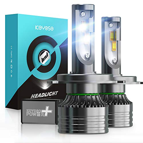 Ampoule H4 LED 16800LM Voiture et Moto, KOYOSO 100W LED Phares 6500K Blanc, 12V