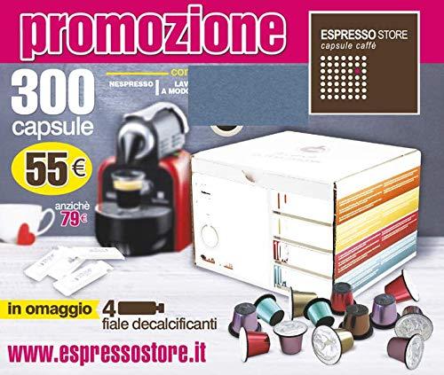 300 Cialde Capsule caffè MOKIESPRESSO Espresso compatibili NESPRESSO gusto INTENSO Gran Cru