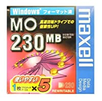 Windowsフォーマット済み230MB MOメディア5枚パック マクセル MA-M230.WIN.B1P5S