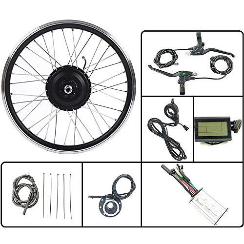 GGD Bicicleta Eléctrica 36V350W Frontal Kit De Conversión EBIKE Motor De Cubo De Rueda con LCD3 Display 16-28 Pulgadas 700C Bicicleta Eléctrica Kit E-Bici,16inch LCD Sets