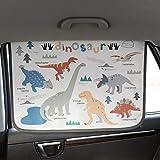 Magnetic Car Sun Shade Curtain for Side Window Baby Kids Children Sunshade Protector Protects from Sun Glare Heat Blocks UV Rays Glare Car Interior Sun Blocker Blind (Dinosaur)