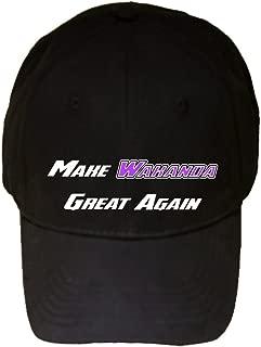 Make Wakanda Great Again Funny Parody - 100% Adjustable Cap Hat Black