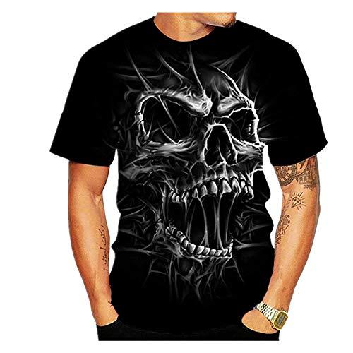 Camiseta de manga corta para hombre, diseño de guerrero