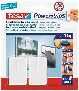 tesa Powerstrips schilderijspijker, zelfklevend, wit, 2 stuks