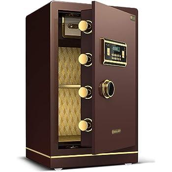 Convencionales Cajas Fuertes Caja Fuerte electrónica for el hogar con Caja de Seguridad Mediana contraseña Caja de Seguridad de Acero Cajas Fuertes (Color : Brown, Size : 40 * 36 * 60cm): Amazon.es: Hogar