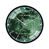 Reloj de pared de cielo estrellado luminoso,reloj de cuarzo de silencio for la decoración del hogar,sala de estar,dormitorio,estudio,sala de niños ClassroomOffice ( Color : Color 5 , tamaño : 12in )