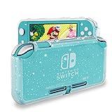 DLseego Schutzhülle Kompatibel mit Nintendo Switch Lite 2019,Crystal Glitter Bling Weiche TPU Case mit Stoßfestem und Kratzfestem Schutzgehäuse für Switch Lite - Crystal Glitter