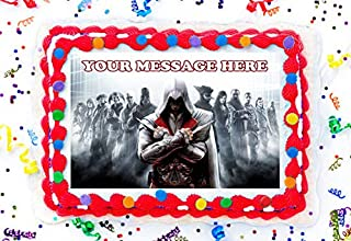 Assassin's Creed Cake Topper Edible Image Personalized Cupcakes Frosting Sugar Sheet (2