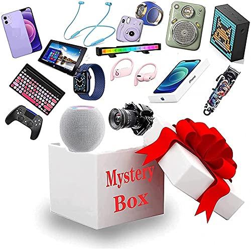 REUIFS Mystery box, elektronisk överraskningslåda, lyckopresentväska, turbox, mystisk slumpmässig produkt, drönare, smartklocka, spelplatta, digitalkamera, etc., överraska dig själv