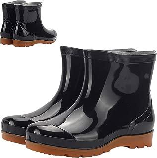 Men Waterproof Snow Rain Boots Anti-Slip PVC Black Adult Outdoor Work Rubber Boots