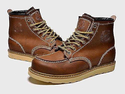 Hhoro Cordón clásico del Zapato del Forro de algodón del Invierno de Las botas del Desierto de los hombres, 42 (Color   -, tamaño   -)