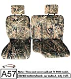 RealSeatCovers for Front 60/40 Split Bench A57 Triple Stitched Thick Custom Made Seat Cover for Toyota Pickup 1990-1995 Exact Fit (Muddy Water Camo)