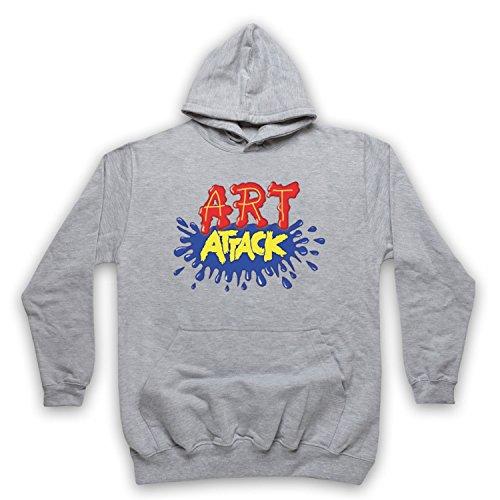 My Icon Art & Clothing Art Attack Kids TV Logo Buchanon Disfraz Sudadera con capucha para adultos gris S