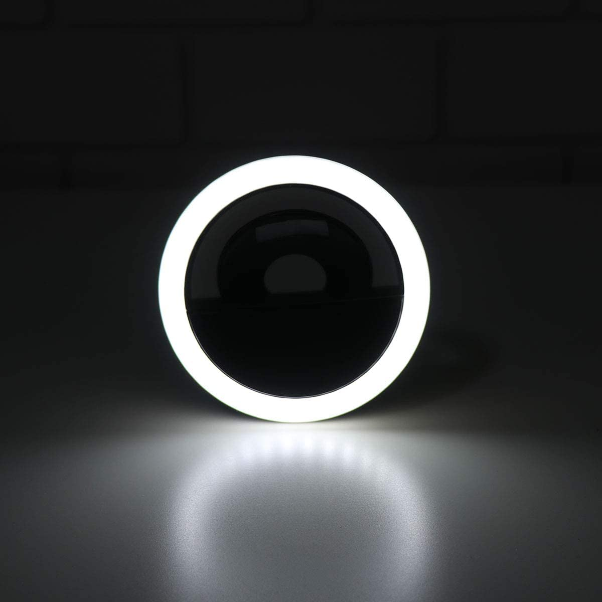 Balacoo Clip on LED Selfie Ring Light USB Rechargeable Selfie 3 Modes LED Camera Light for Smart Phones Camera Photographie Phones