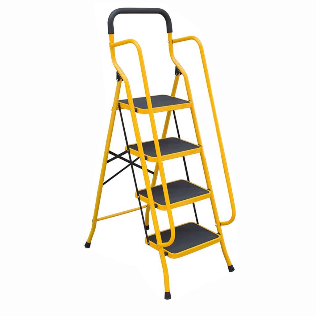 Suministros de construcción Escalera de cuatro peldaños, Escalera de barandilla de interior Escalera de metal antideslizante Tamaño de escalera al aire libre 53 * 8.5 * 158CM ahorra espacio: Amazon.es: Bricolaje y herramientas