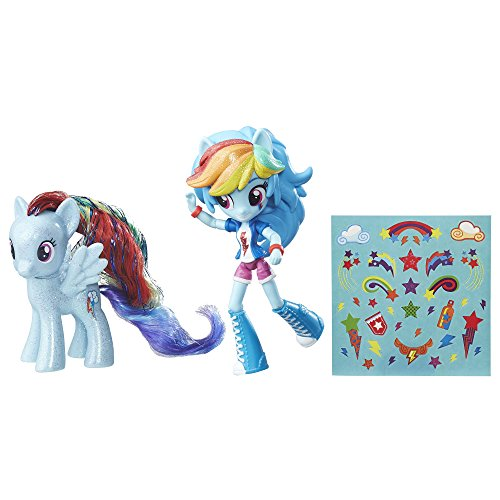 My Little Pony Rainbow Dash Toys - Glitter Pony & Equestria Girls Doll, Kids Ages 5 and Up