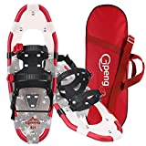Gpeng Snowshoes for Men Women Youth Kids, Lightweight Aluminum Alloy All Terrain Snow Shoes with Adjustable Ratchet Bindings with Carrying Tote Bag ,14'/21'/ 25'/27'/ 30'