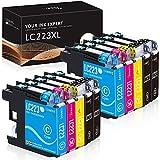 IUBEST LC223 Druckerpatronen Ersatz für Brother LC223 Patronen Kompatibel mit Brother DCP-J562DW J4120DW MFC-J5320DW J880DW J5620DW J5625DW J680DW J4625DW J5720DW J4420DW J4620DW J480DW