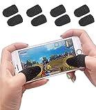 Juego de Mangas para Dedo del Juego móvil Controlador de Juego de Sudor Fibra Conductiva ...