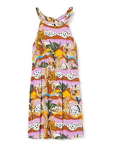 TOM TAILOR Denim Nackenhalter Vestido, 22509/Tropical Safari Prin, XXL para Mujer