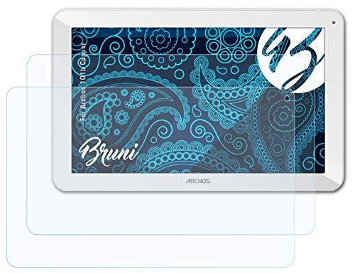 Bruni Schutzfolie kompatibel mit Archos 101b Copper Folie, glasklare Displayschutzfolie (2X)
