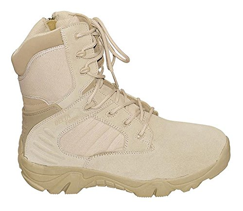 Commando Industries MCA Tactical Boots Delta Force Outdoort Stiefel Einsatzstiefel Schwarz oder Beige Gr. 38-47 (46, Beige)